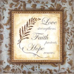 Love Faith Hope by Janet Brignola-Tava