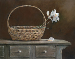 Wicker & Orchids by Ruane Manning