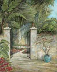 Tranquil Garden I by Ruane Manning