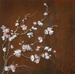 Cherry Blossoms on Cinnabar II by Janet Brignola-Tava