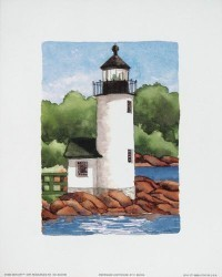 Annisquam Lighthouse by Carolyn Bucha