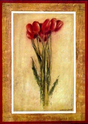 Red Tulips by Lewman Zaid