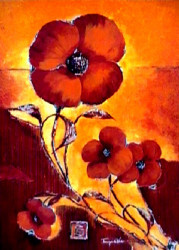 Red Poppies by Tomasyn de Winter