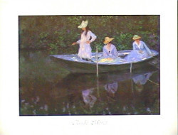La Barque A Giverny by Claude Monet