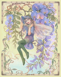 The Wisteria Fairy by Joy Scherger
