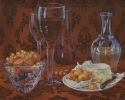 Still Life Cheese & Fruit by Judie Ahlburg