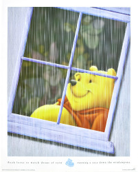 Pooh loves to watch drops of rain - Disney by Disney