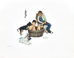 Lickin Good Bath by Norman Rockwell