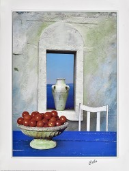 Tomatoes and White Urn