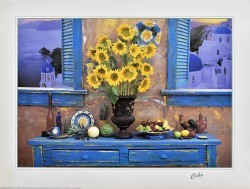 Sunflowers Between the Windows by Cebo
