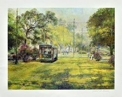 St Charles Street Car by Robert M Rucker