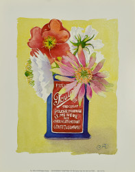 Flowers in a Red and Blue Can by Robbin Gourley