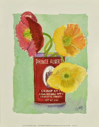 Flowers in a Red Can by Robbin Gourley