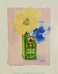 Flowers in a Green Can by Robbin Gourley