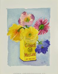Flowers in a Yellow Can by Robbin Gourley