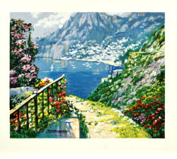 The Road to Positano by Howard Behrens