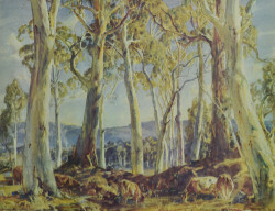 The Shady Pool by Hans Heysen