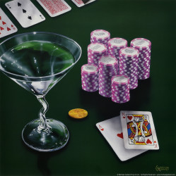 Poker Chips Big Slick by Michael Godard
