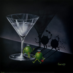 He Devil She Devil Martini by Michael Godard