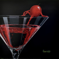 Cherry Cosmo by Michael Godard