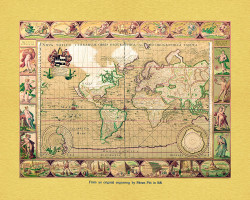 Gold Map of The World by Moses Pitt