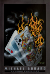 Burning Blackjack (lge) by Michael Godard