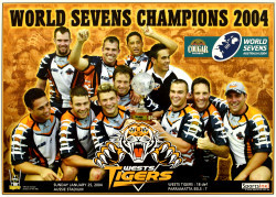 World Sevens Champions 2004 - Wests Tigers