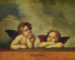 Two Angels from The Sistine Madonna by Raphael