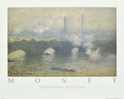 Waterloo Bridge Gray Day - 1903 by Claude Monet