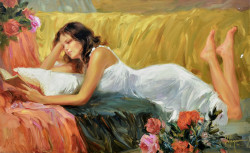 Lost in Tale Stretched Oil by Vladimir Volegov - Stretched Canvas