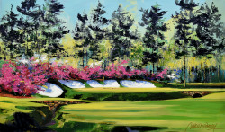 Springtime in Augusta Canvas Stretched by Malcolm Farley - Stretched Canvas