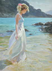 Delicate Amble Stretched Oil by Vladimir Volegov - Stretched Canvas