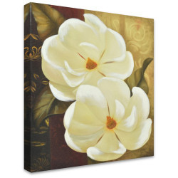 White Flowers by Stretched Canvas