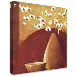 Brown Vase & Bowl by Stretched Canvas