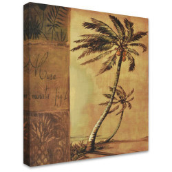 Swaying Palms by Stretched Canvas