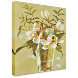 Vase of White by Stretched Canvas