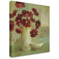 Vase of Red by Stretched Canvas