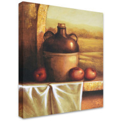 Apples with Jug by Stretched Canvas