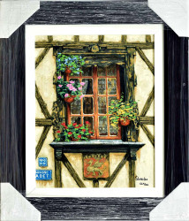 Windows of France by Viktor Shvaiko - Stretched Canvas