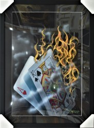 Burning Blackjack by Michael Godard
