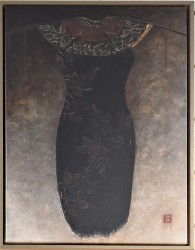 Asian Dress I Canvas with Float Frame by Diana Thiry