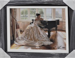 The Piano Room Canvas Framed