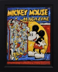 Reading Mickey - Disney Original Framed by Leslie Lew