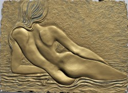 Nude Goddess (gold) by Roberta Peck