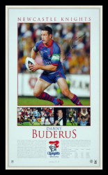 Danny Buderus - Newcastle Knights by Brian Clinton