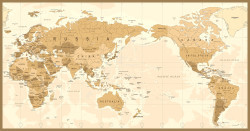 Cork World Map 006 (With Adhesive) by world travel map pin board
