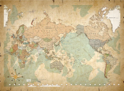 Cork World Map 003 (With Adhesive) by cork world map