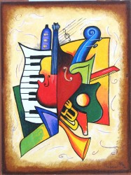 Musical Symphony II Stretched Oil by Nikiforov