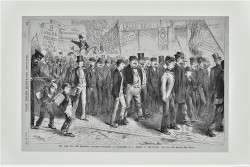 The Eight Hour Movement - Strike in the Bowery - 1872 by Frank Morgan