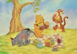 Pooh & Friends Picnic with Honey Pots